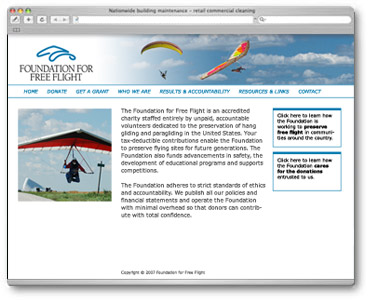 Foundation for Free Flight web site