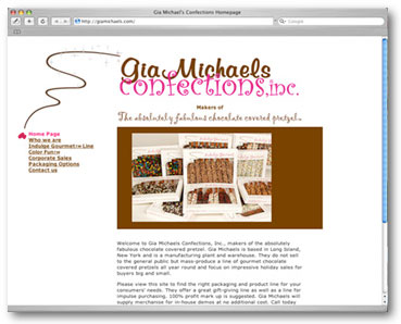 Gia Michaels website