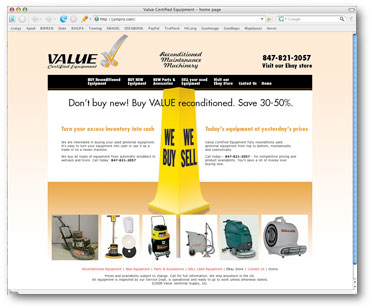 Value Certified Equipment site re-do